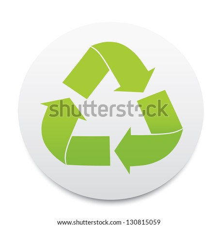 Recycle sign. Vector - stock vector