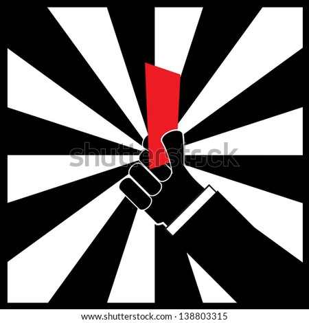 red card - stock vector