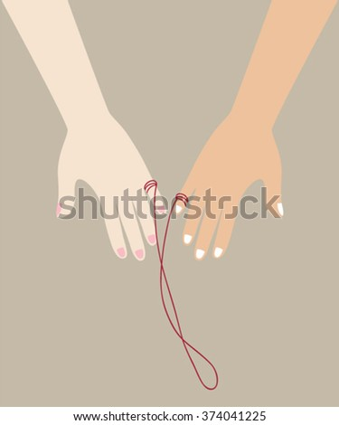japanese red string of fate legend