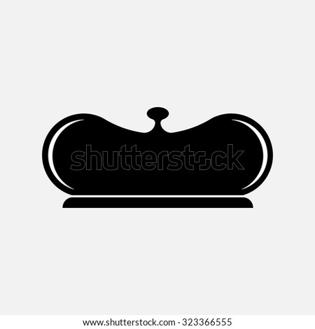 restaurant cloche, fully editable vector image - stock vector