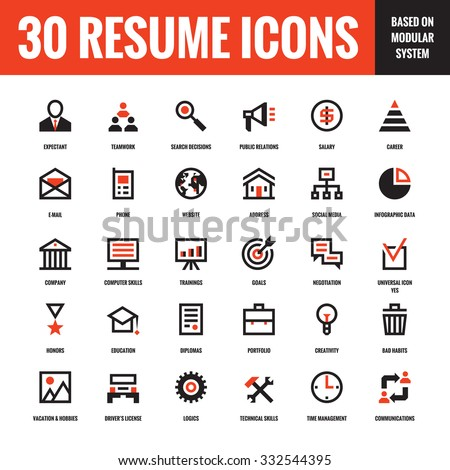 Resume icon stock images royalty free images vectors for Free resume icons