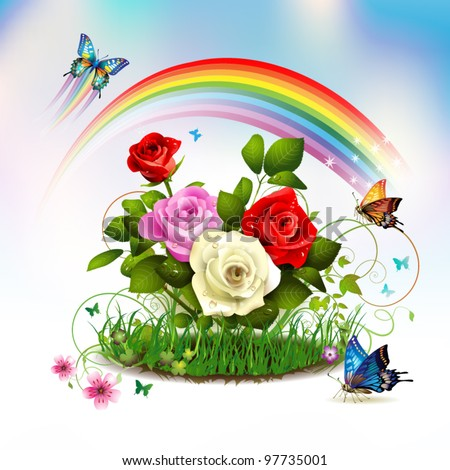 Rainbow Rose Stock Images, Royalty-Free Images & Vectors ...
