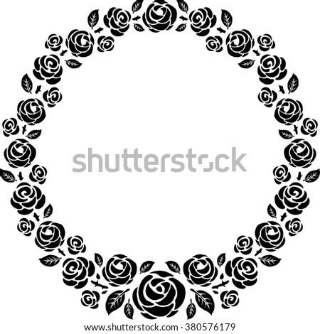 roses vintage vector design frame - stock vector