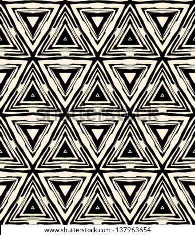 1930s art deco geometric pattern with triangles and random dots. Texture for web, print, wallpaper, home decor, fashion fabric, textile wallpaper, website or invitation background in hipster style