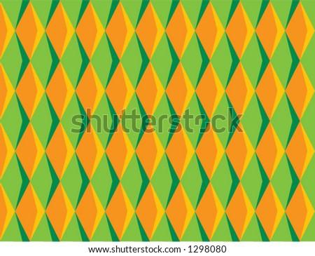 70's Diamond Pattern - stock vector