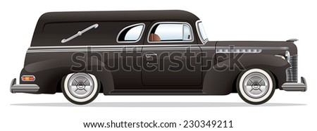 1940s Hearse - stock vector