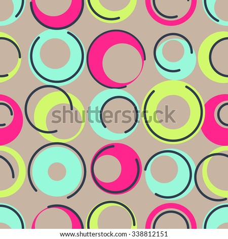 1960s inspired, Seamless colorful background inspired by retro style