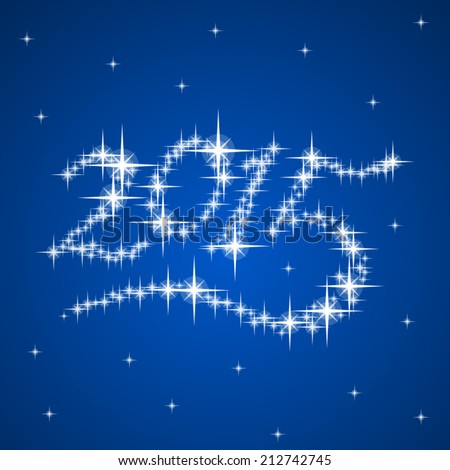 2015's New Year vector stars numbers composition - stock vector