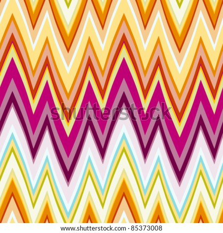 60s Retro florentine Stripe Seamless Tile. Vector version.