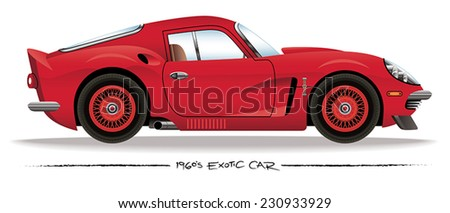 1960s Sports Car - stock vector