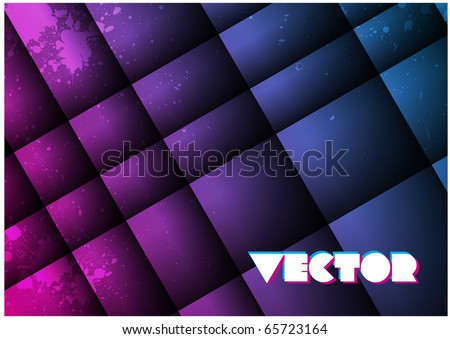 80s style geometric vector design background for use in layouts and presentations - stock vector