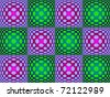 70's style patternt of distorted spots - stock photo