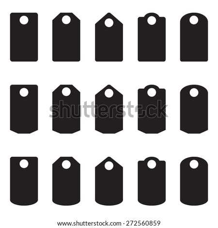 Sale, blank labels template price tags set vector blank labels, - stock vector