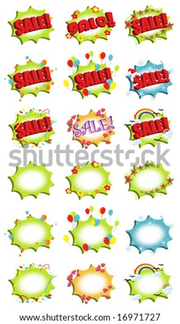 """Sale!"" Icons - stock vector"