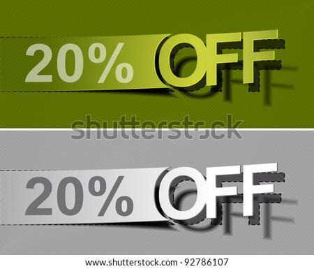 20% Sale percents labal. Vector. - stock vector