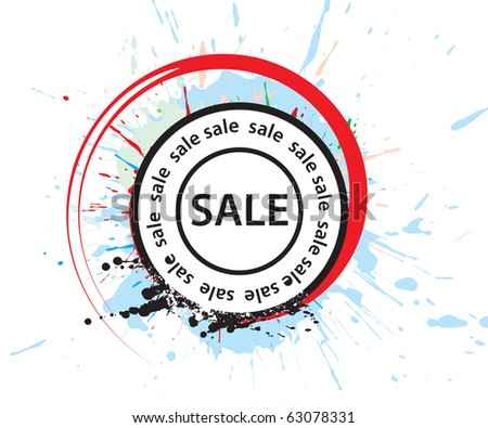 Sale stamp design, vector illustration. - stock vector