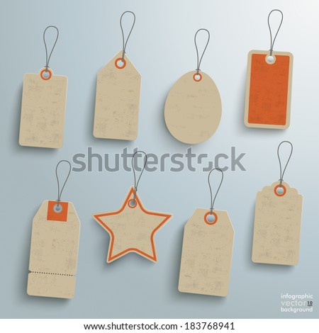 8 sale stickers on the grey background. Eps 10 vector file. - stock vector