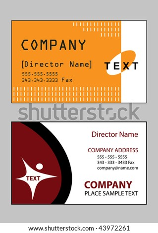 2 samples of business card design in vector format - stock vector