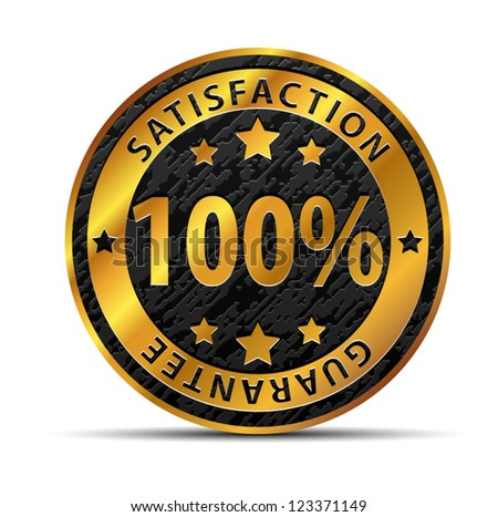 100% Satisfaction Guarantee - stock vector