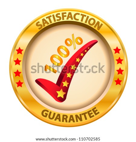 100% Satisfaction Guaranteed logo. Vector illustration - stock vector