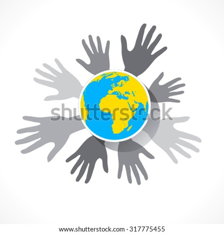 save earth concept or global business design vector