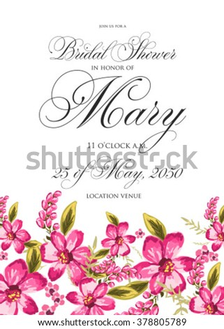 Save the date design. Wedding invitation with flowers.