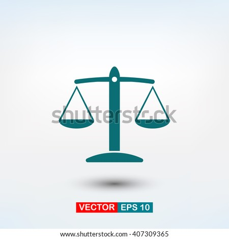 scale icon. One of set web icons - stock vector
