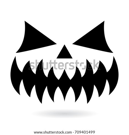 scary halloween pumpkin faces icons set stock vector 211711342 shutterstock. Black Bedroom Furniture Sets. Home Design Ideas