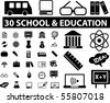 30 school & education signs. vector - stock vector