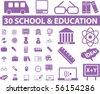 30 school & education signs. vector - stock vector