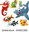 2010 sea life vector set - stock vector