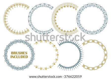 8 seamless borders for decoration and design. (Brushes included).  - stock vector