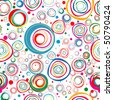 Seamless bright background from circles. - stock vector