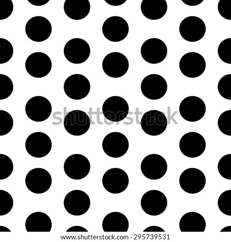 Seamless Circle Pattern. Abstract Black and White Background. Vector Regular Texture - stock vector