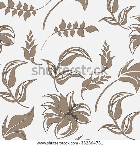 seamless flower background - Illustration Flower, Single Flower, Backgrounds, Floral Pattern, Wallpaper  - stock vector
