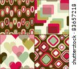 Seamless geometric pattern  set for fabric and furniture. Beautiful wallpaper (vector) - stock