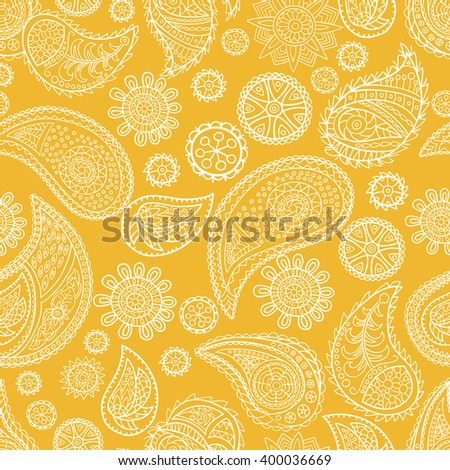Seamless paisley pattern. Vector graphics.