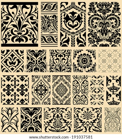 20 Seamless Patterns Background Collection - for design and scrapbook - in vector - stock vector