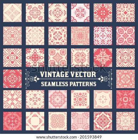 36 Seamless Patterns Background Collection - for design and scrapbook - in vector - stock vector
