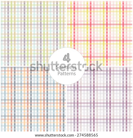 4 Seamless plaid pattern