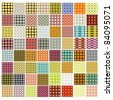 64 seamless retro patterns - stock vector
