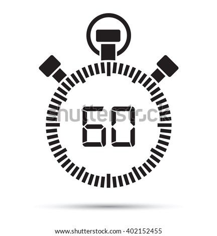 60 second timer - stock vector