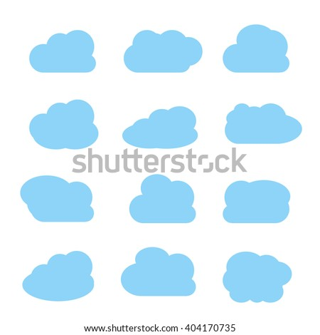 Set of clouds icons. Vector