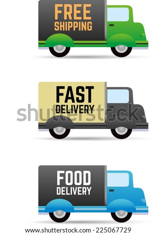 Shipment and free delivery - stock vector