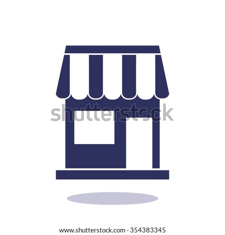 shop, web icon. vector design - stock vector