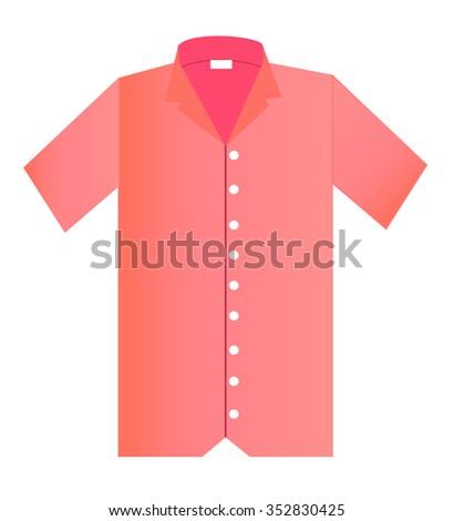 Short sleeve shirt Pink - stock vector