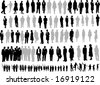 106 Silhouette of people - stock vector