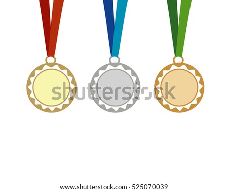 3 simple medal icons