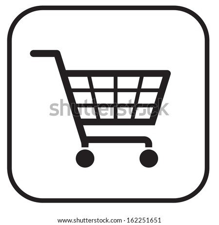 simple shopping basket sign eps 10 - stock vector