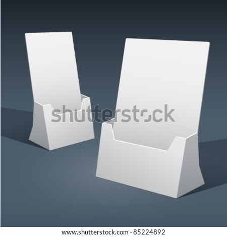 2 sizes of blank brochure holder template for designers. Vector EPS10. - stock vector